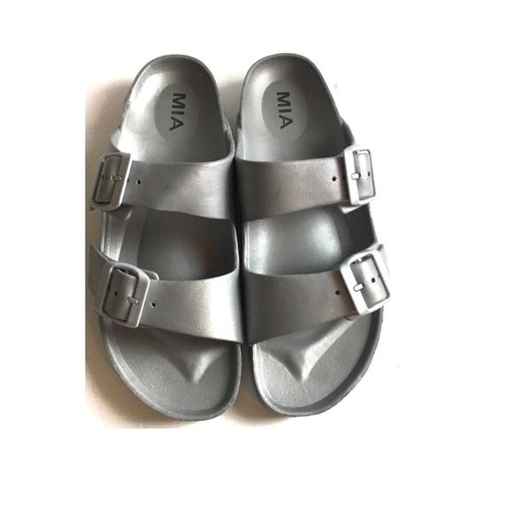 MIA Shoes   Mia Silver Sandals   Poshmark